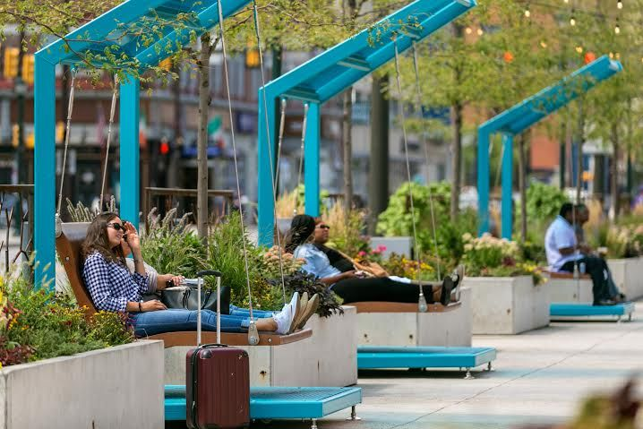 Custom-made swings added to The Porch at 30th St Station | West Philly Local