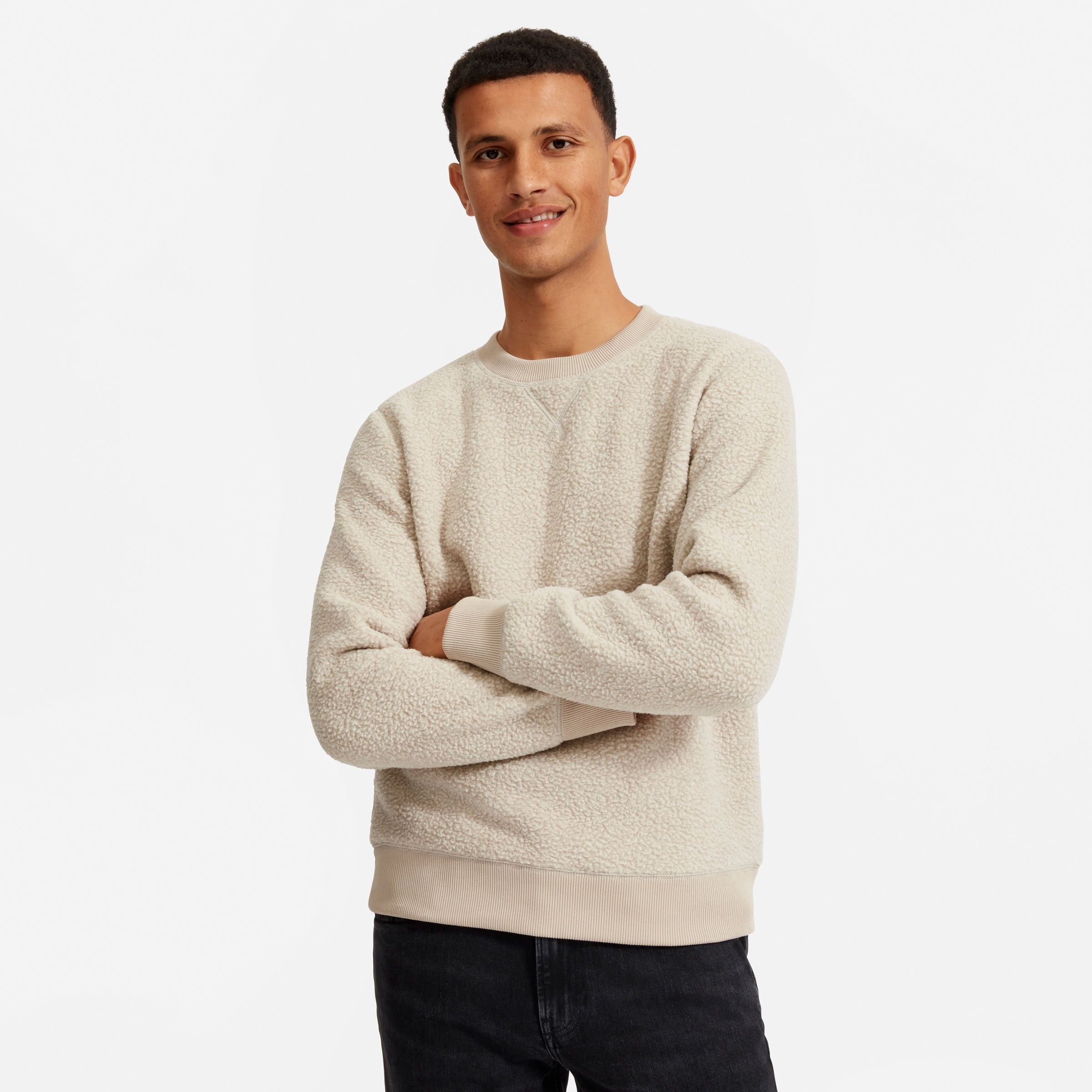 The Renew Oversized Fleece Sweatshirt Has An Easy Roomy Fit Ribbed Cuffs And Thoughtful Details Plus This Warm Sweatshirt Fleece Sweatshirts Cozy Pullover [ 2400 x 2400 Pixel ]