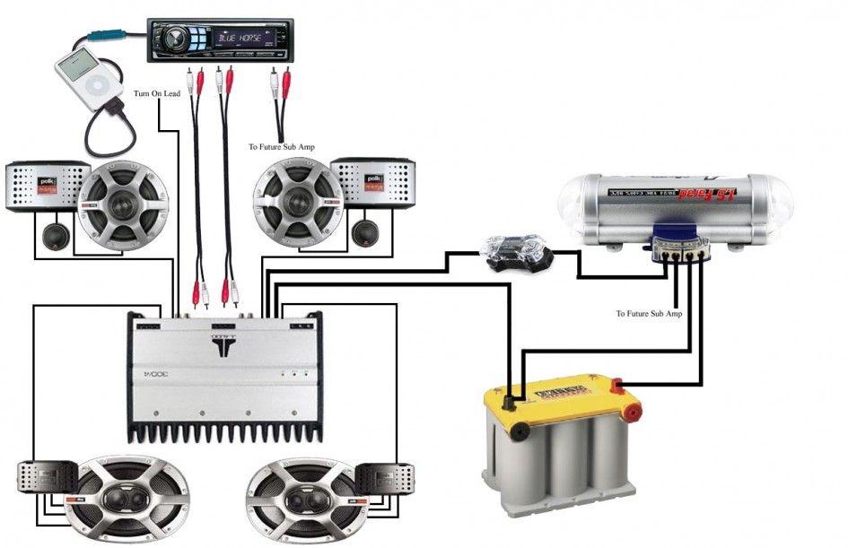 Car Audio Amp Wiring Diagrams Mechanics Corner Pinterest