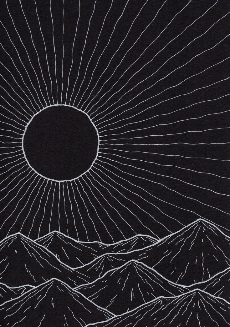 Black Sun. 5x7in. Ink.
