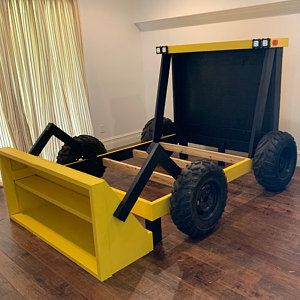 Construction Truck Bed Plans Pdf Format Twin Size Diy Etsy Diy