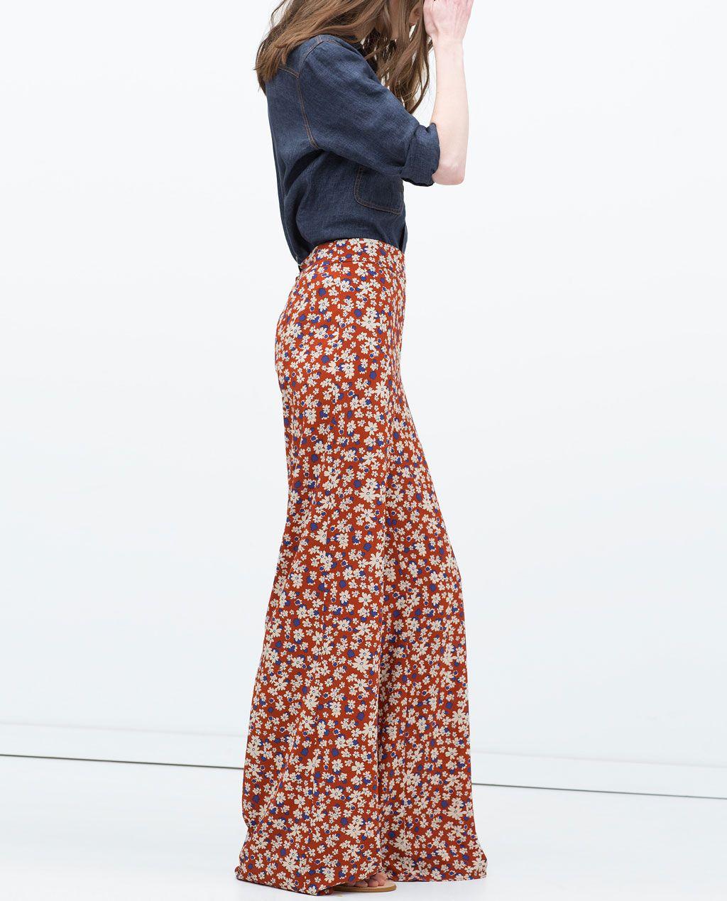 Pantalones de moda » Pantalones pata elefante Zara 2