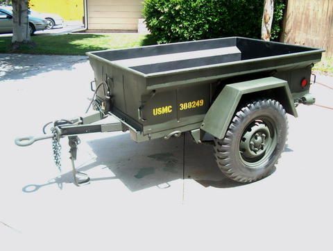 3 4 Ton Military Trailer Jeep Trailer Willys Jeep Utility Trailer Camper
