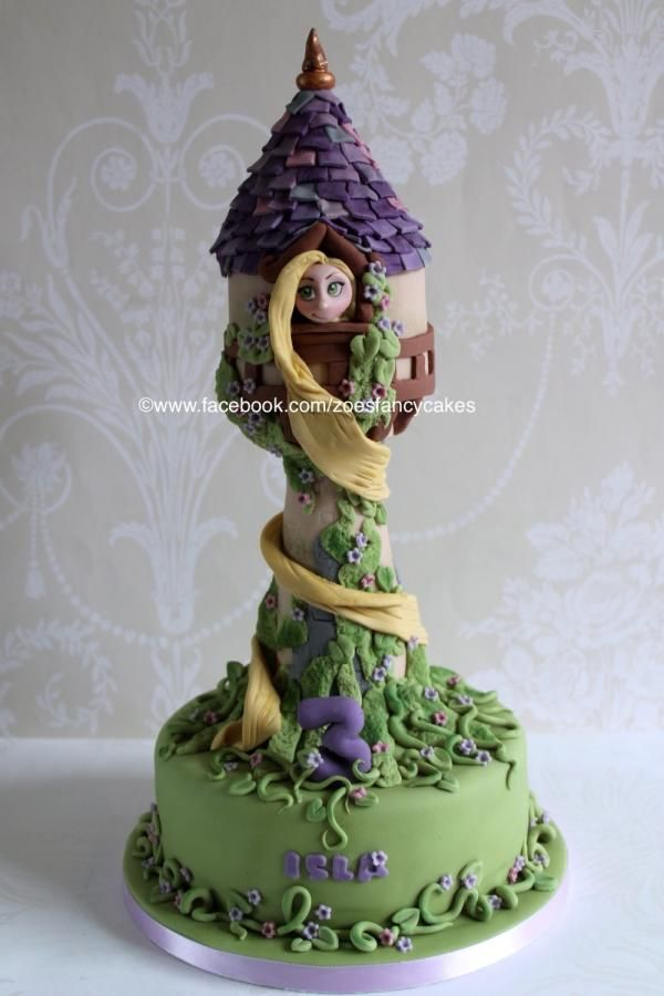 Rapunzel tower no 2 - more at https://www.facebook.com/zoesfancycakes