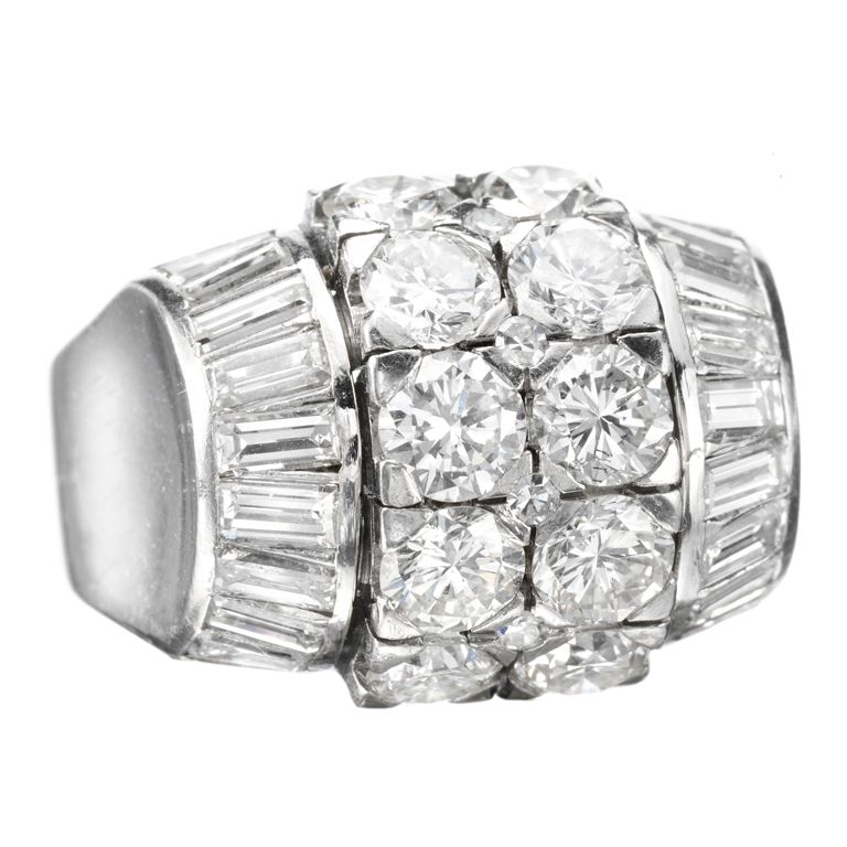 RENE BOIVIN A Diamond and Platinum Ring