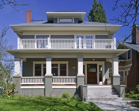 Merit Award Old House Renovation Foursquare Rescue Remodeling Four Square Homes Craftsman House Bungalow Porch