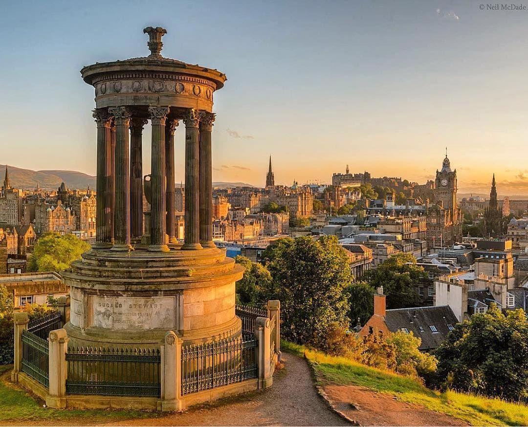 Repost from @spectacular.scotland Edinburgh skyline near ...