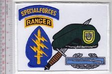 green beret airborne ranger | Green Beret US Army 1st Special Forces Group Airborne CIB & Ranger Tab