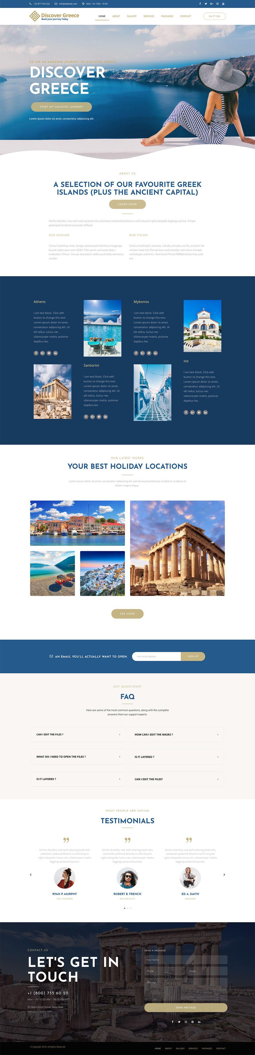 Web And App Design Travel Agent Website For Greek Holidays Web App Design Web Design App Design
