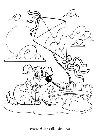 Ausmalbilder Herbst Ausmalbild Hund Und Drachen Steigen Ausmalbilder Hunde Ausmalbilder Ausmalen