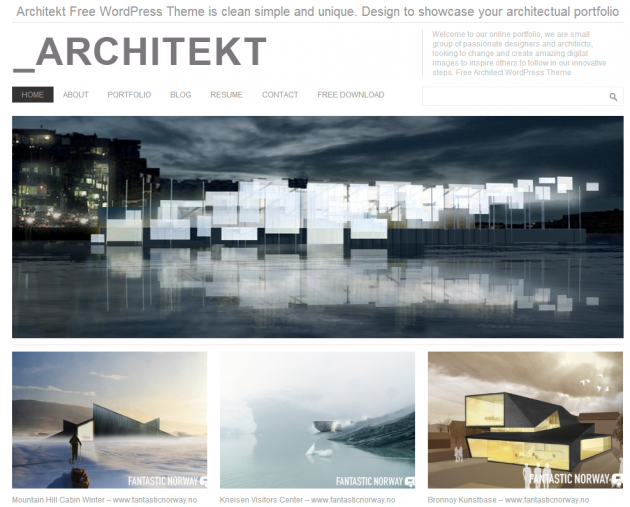 Top free themes for bloggers wpmayor architecture for Architectural websites
