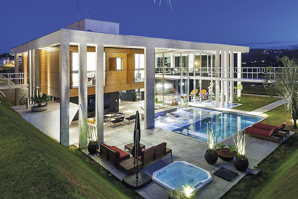 14 projetos de deslumbrantes piscinas para você se inspirar.