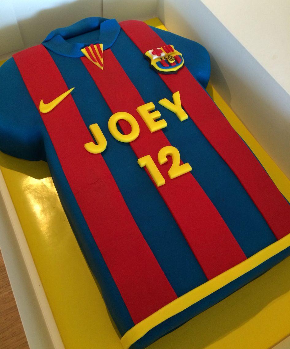Barcelona soccer jersey cake soccer birthday cakes
