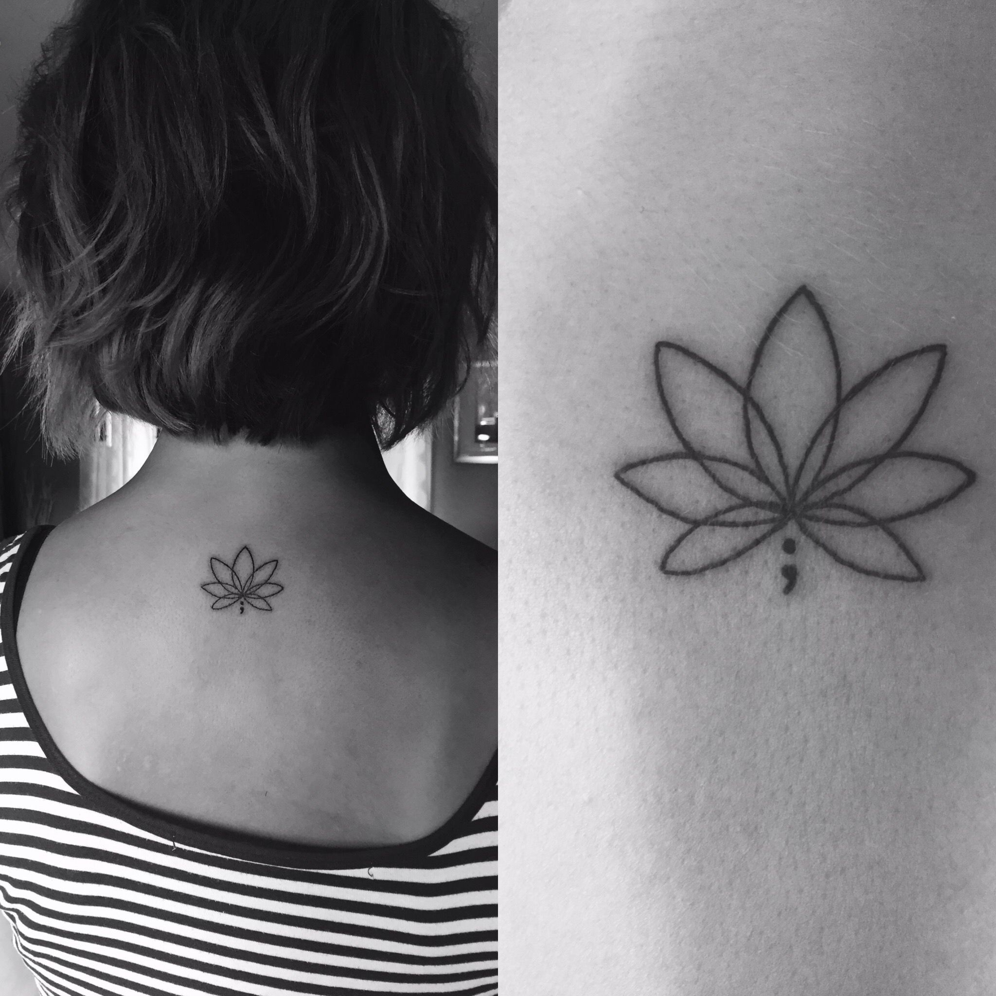 My first (but not last) tattoo. A lotus flower & a