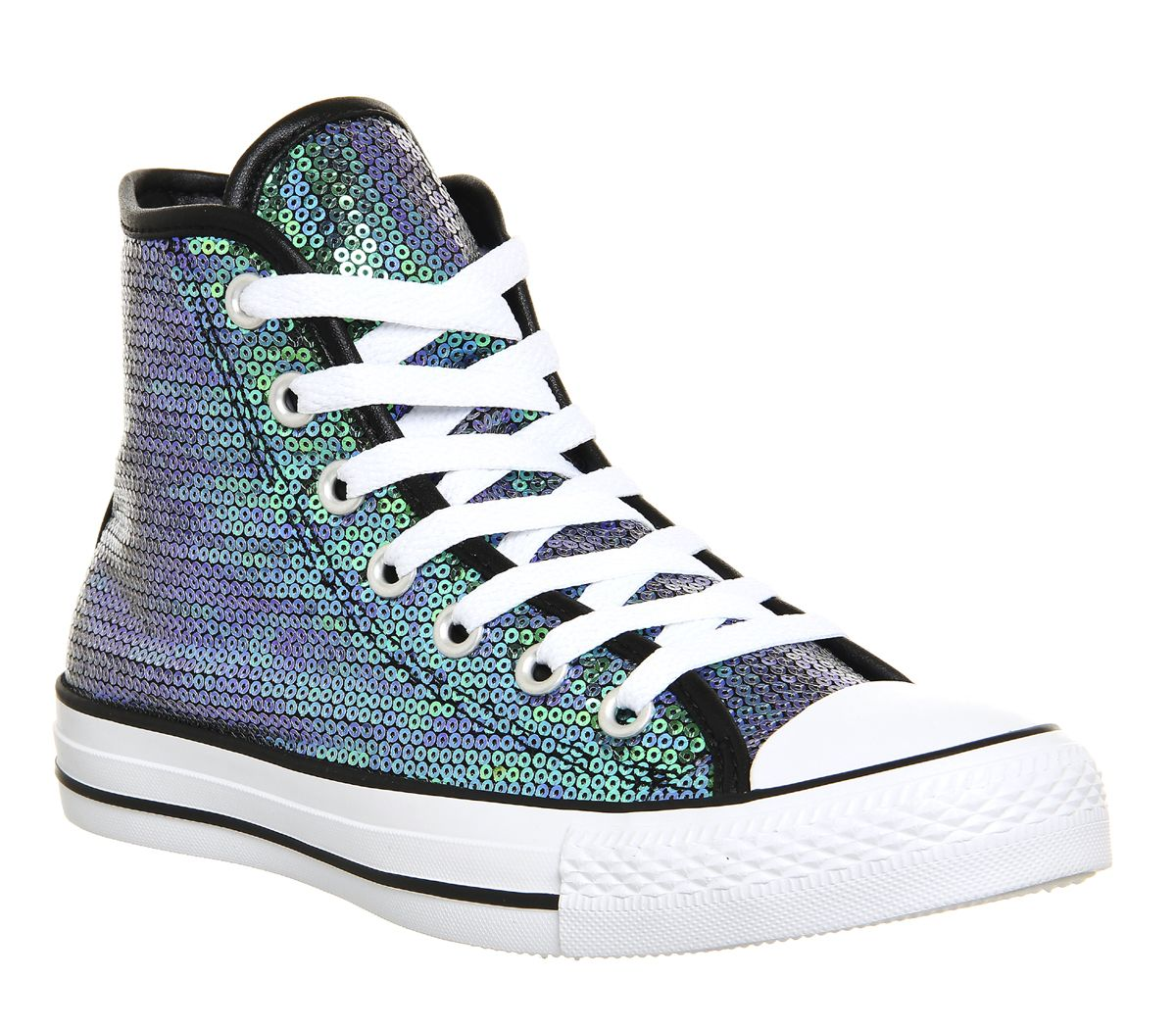 Converse Converse All Star Hi Gloom Green White Black Sequin - Unisex Sports