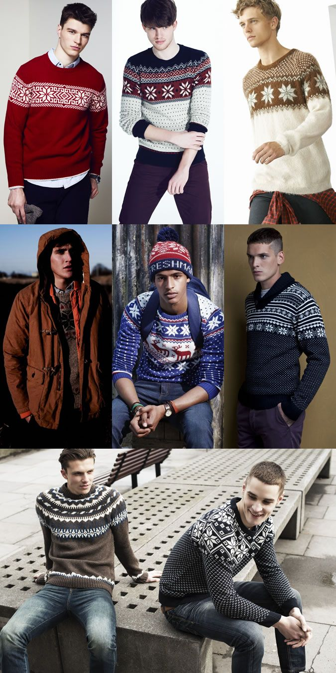 Men's Nordic Knit Lookbook Outfit Inspiration