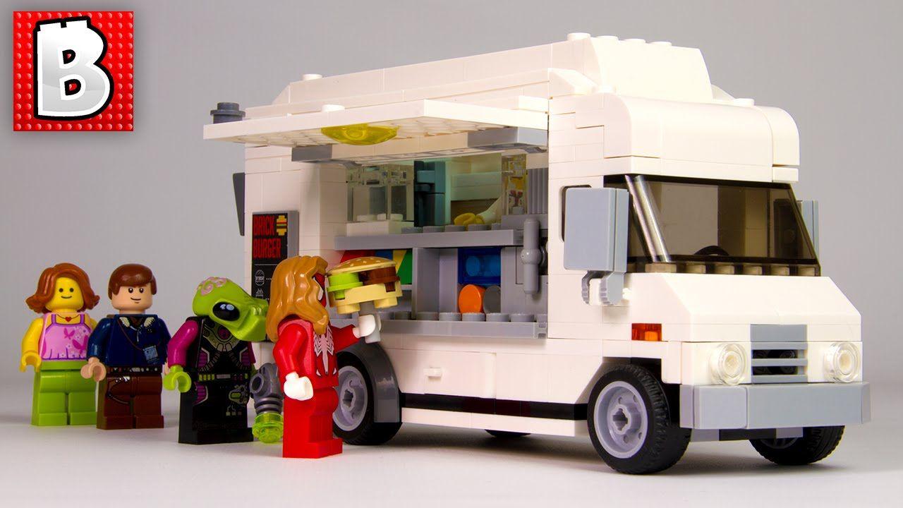 Lego Custom Food Truck Moc Nation Set Unbox Build Time Lapse
