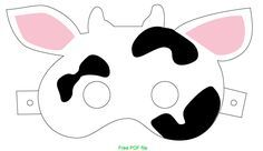 It is a graphic of Enterprising Printable Cow Mask