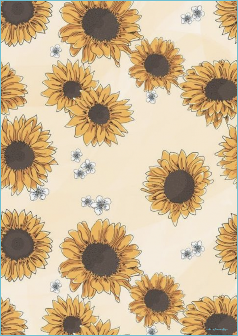 Seven Mind Blowing Reasons Why Cartoon Sunflower Wallpaper Is Using This Technique For Exposure Cartoon Su Sunflower Drawing Sunflower Art Flower Art Drawing