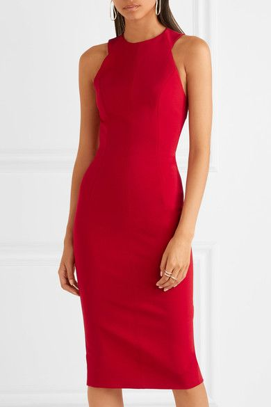 Stretch-knit Dress - Red Victoria Beckham Free Shipping Best Prices ytXT61