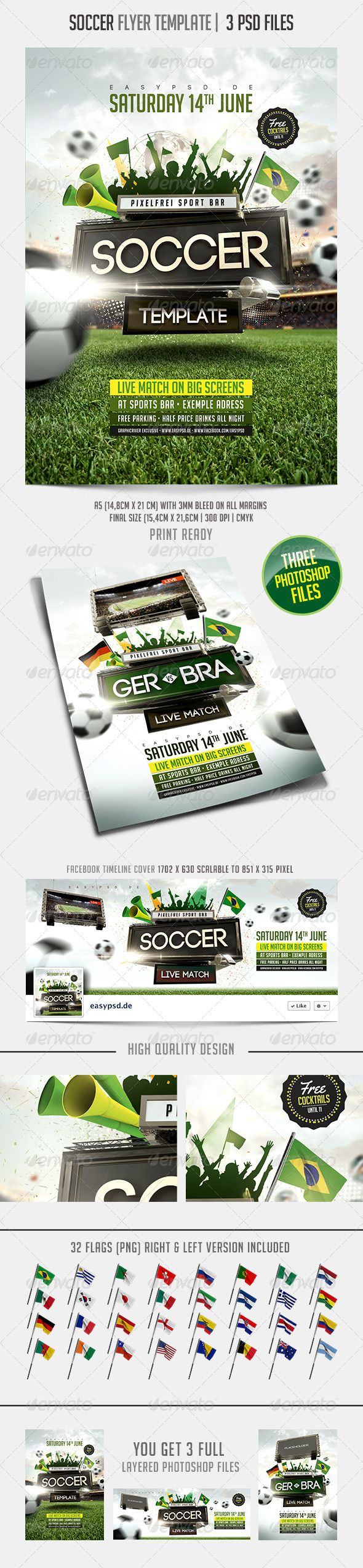 Soccer Flyer Template  Flyer Template Template And Event Flyers
