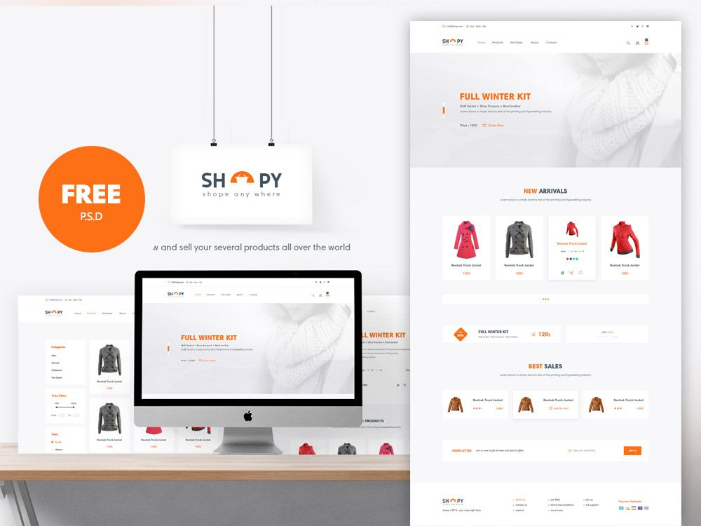 Website Layout Template Pdownload Ecommerce Shopping Website Template Free Psdthis Is A