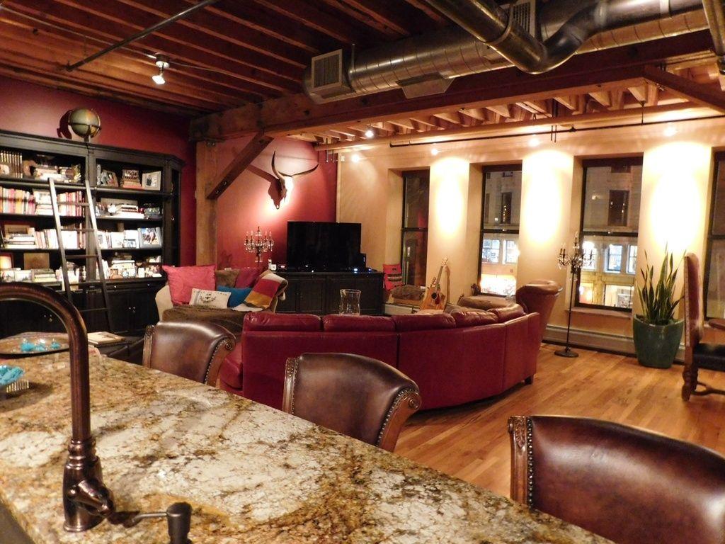 Denver bachelor pad condo loft living room   Bachelor Pads ...