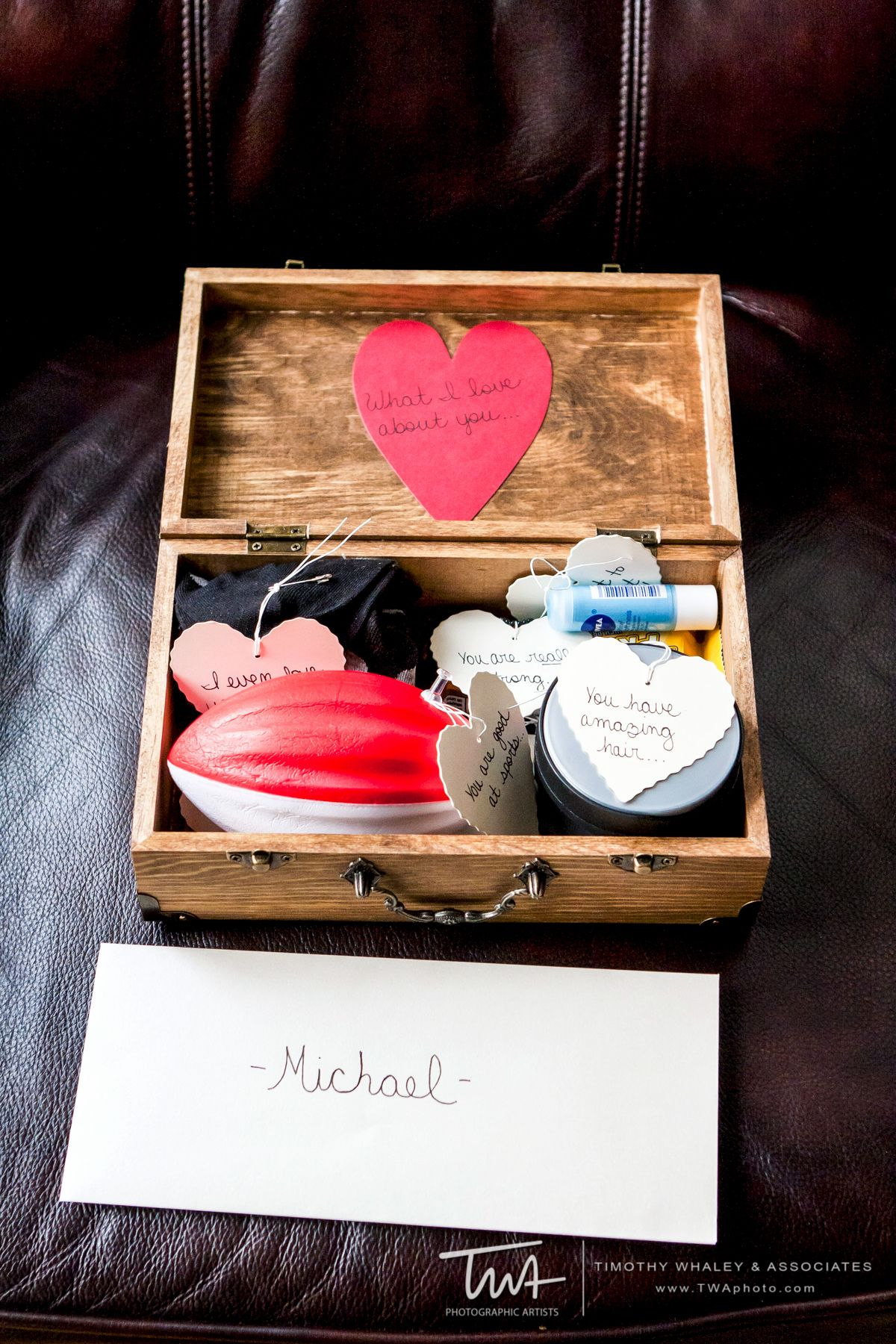 Love This Diy Gift From The Bride To The Groom On The Big Day All