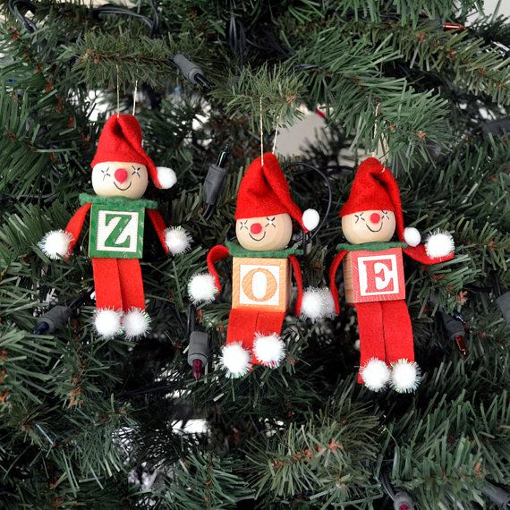 Alphabet Elves Christmas Ornaments Or Favor Class Office Gift You Pick Letters Holidays Special Occasions Christmas Ornaments Christmas Elf Ornaments