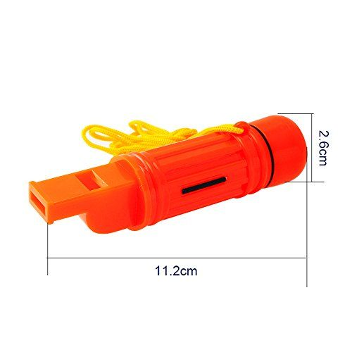 SAFETY SECURITY EMERGENCY WHISTLE WITH LANYARD CAMPING HIKING BOATING DSLU