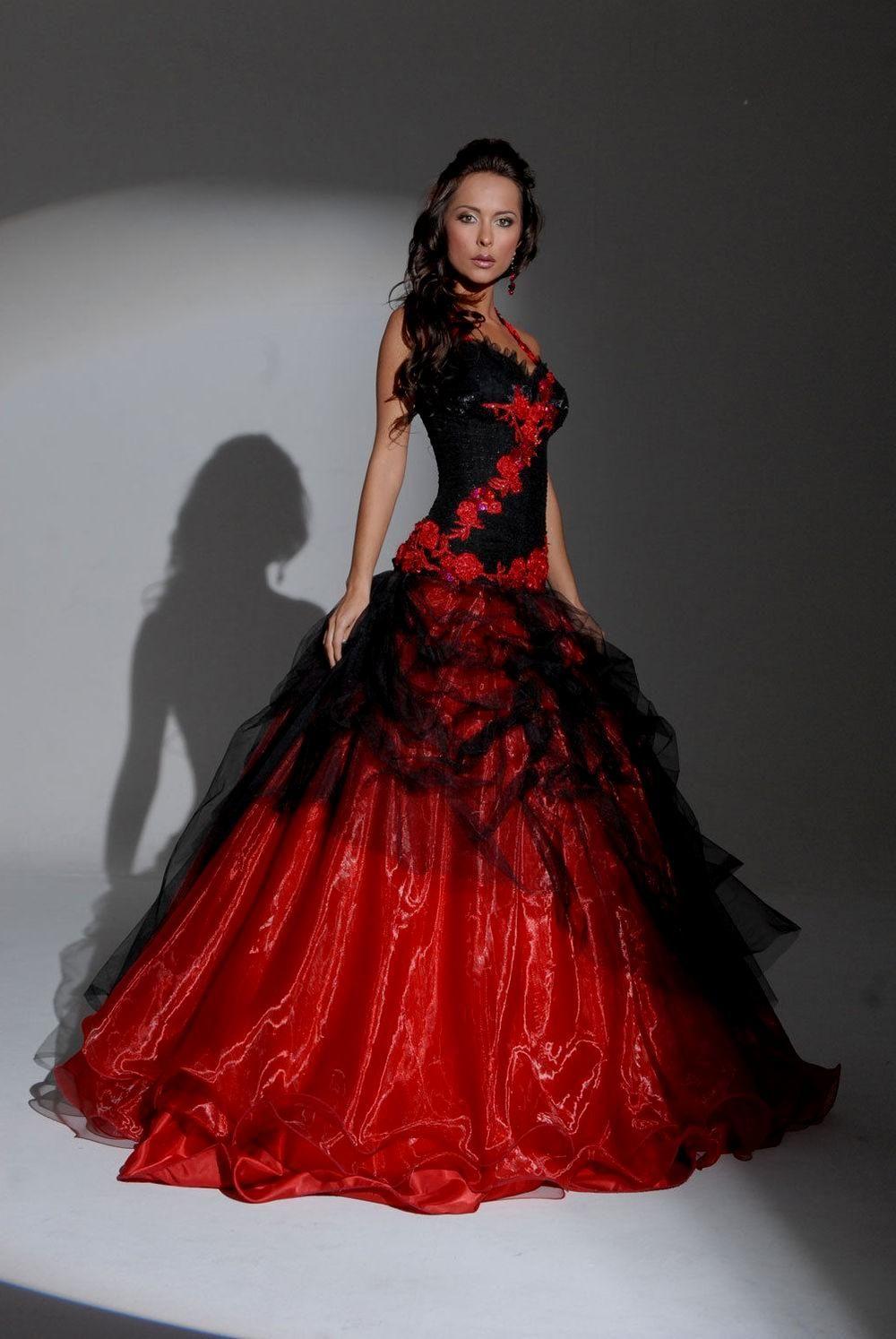 Red Or Black Bridesmaid Dresses