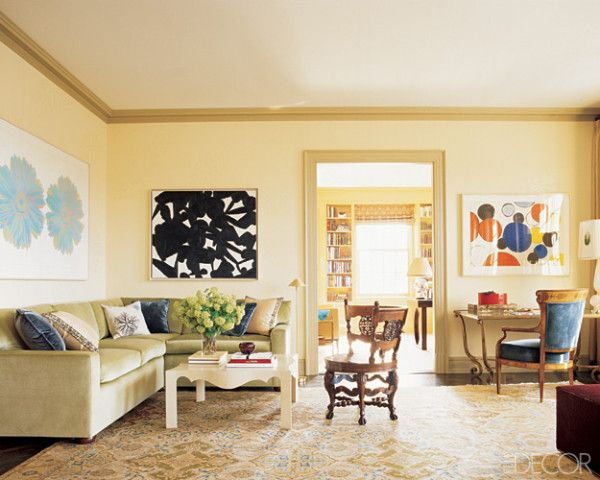 The living room of a young family s manhattan apartment for Apartment overlooking central park