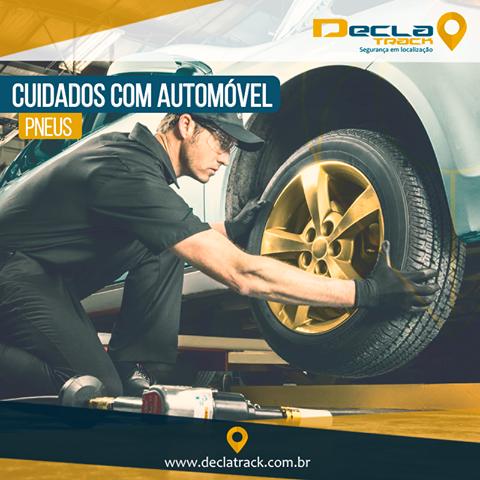 Cheque a pressão semanalmente e calibre de acordo com o nível determinado no manual. Faça o rodízio a cada 5 mil km, passando os pneus dianteiros para trás e vice-versa.  www.declatrack.com.br  #Declatrack #RastreamentoVeicular #TaTranquiloTaRastreado #cuidandodocarro #pneus