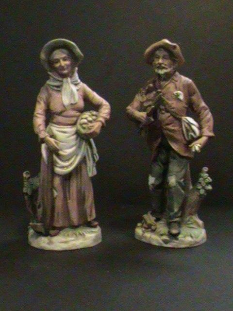 old man and old woman homco home interior numbered and retired figurines mint both numbered 8884