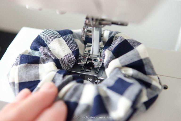 How to Sew Scrunchies Tutorial #scrunchiesdiy