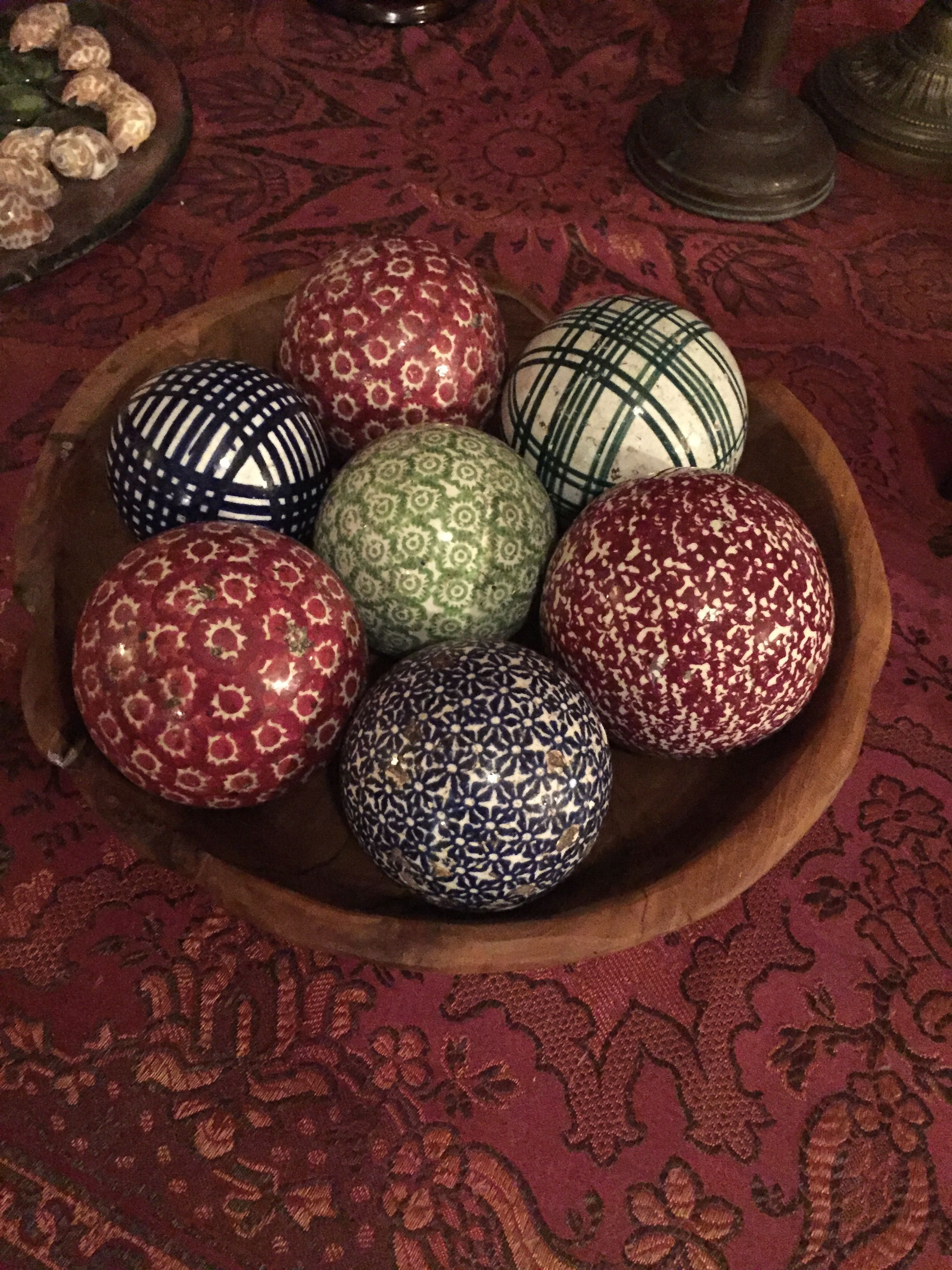 Antique Scottish Carpet Balls Spongeware Pottery In 2019 Carpet