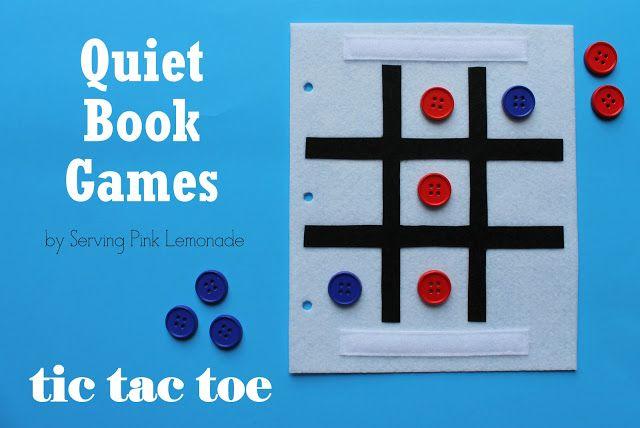 Serving Pink Lemonade Quiet Book Games Part  Tic Tac Toe Free