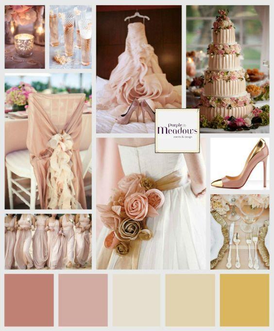 Wedding Inspiration Vintage Rose Vintage Wedding Colors Gold Wedding Colors Dusty Rose Wedding