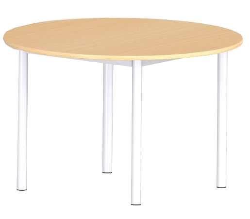 TABLE COMITE 4 PIEDS D120 PLATEAU STRATIFIE #table #4pieds #salleamanger #restauration #metal #stratifie