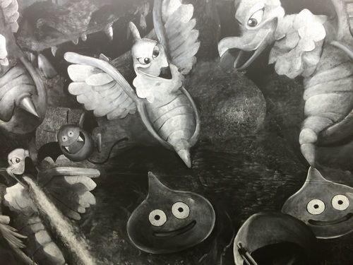 巨大な「ドラクエ」黒板アート、かいしんの一撃でモンスター一掃なるか。 | Narinari.com