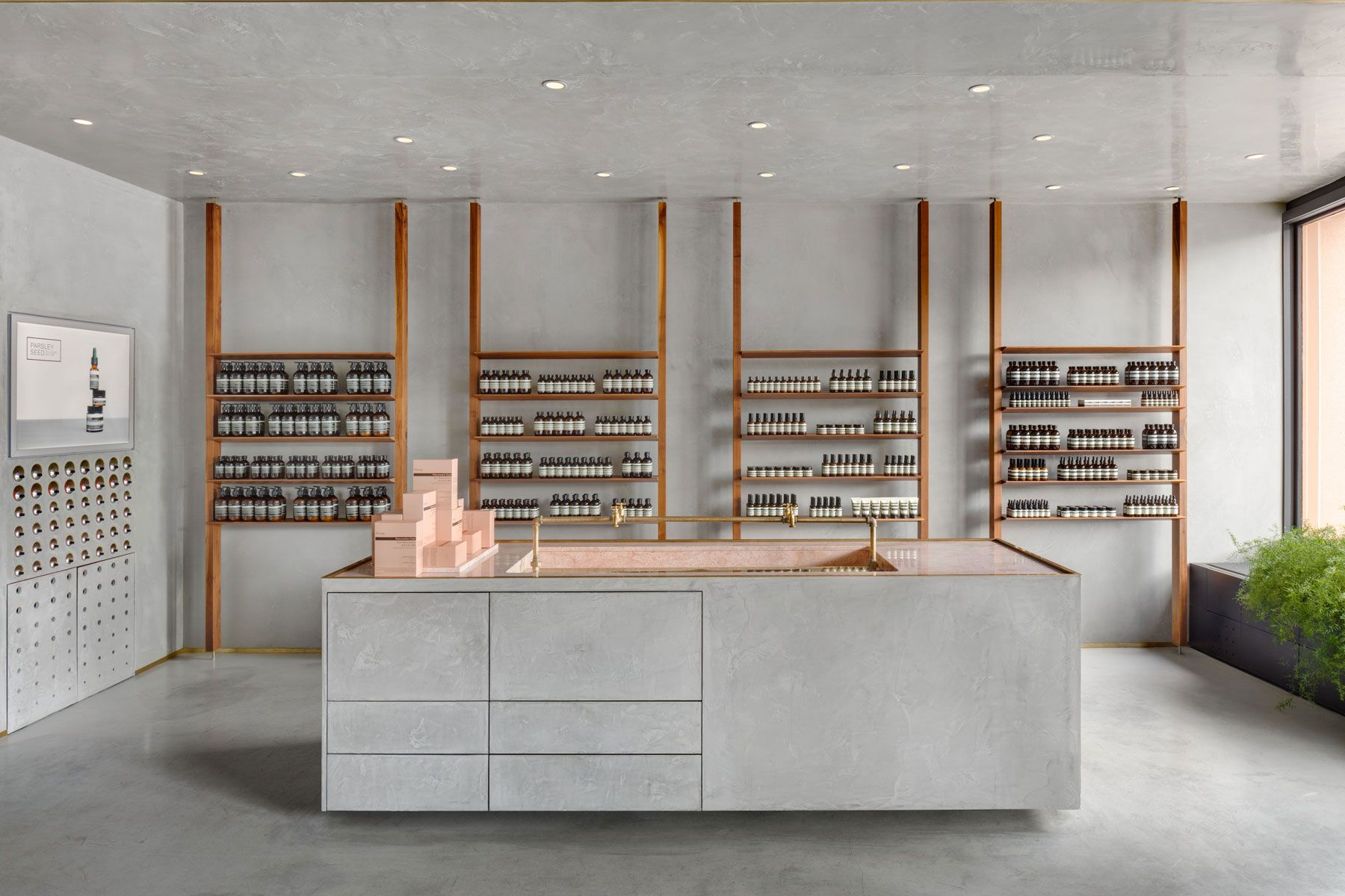 Aesop Kitsilano With Images Minimalist Home Interior Home Interior Design Minimalist Kitchen Design