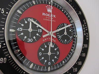 Rolex Vintage Daytona Style Wall Clock Vintage Rolex Clock Ebay