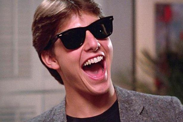 Tom Cruise in Risky Business, wearing his Ray Bans