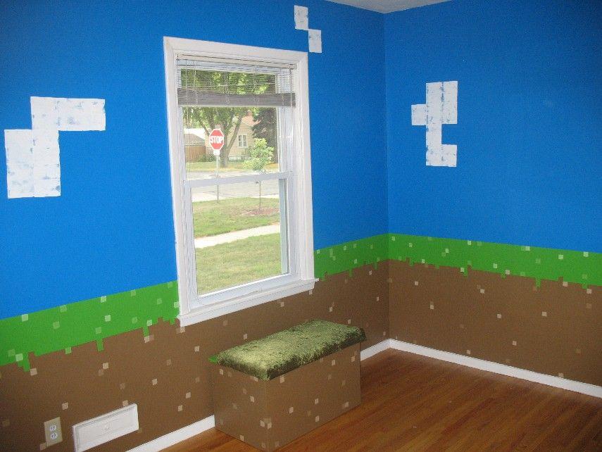 My daughters Minecraft inspired bedroom Minecraft room