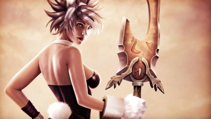 Battle Bunny Riven Art League Of Legends Girl 1920x1080