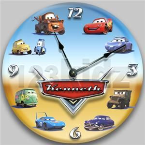 Personalized Cars Clock