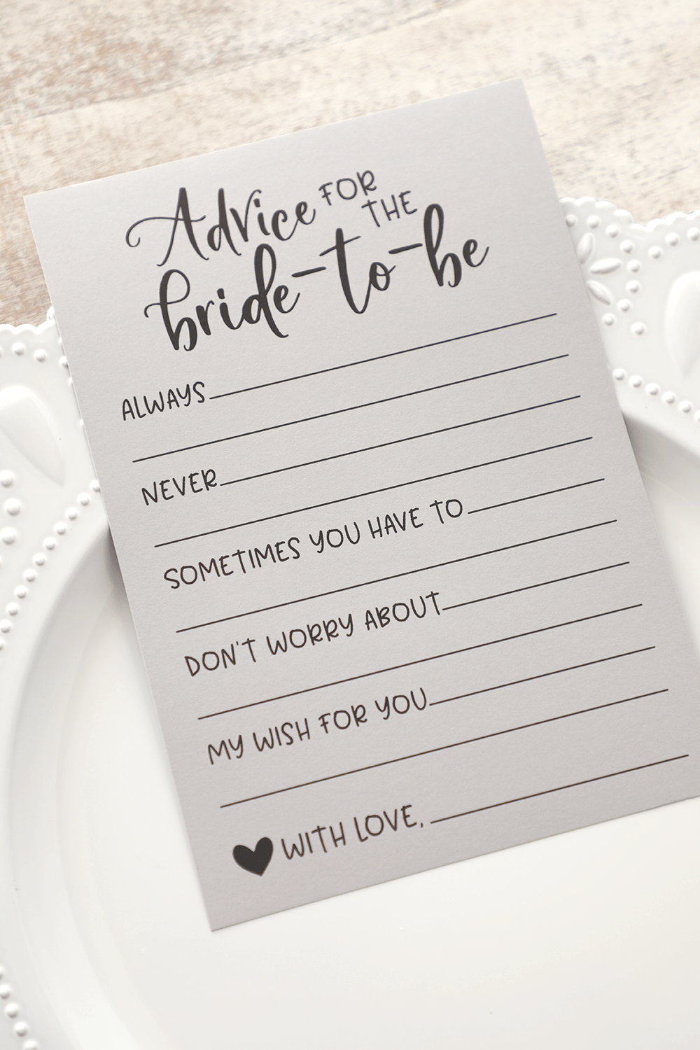 Grey Advice For The Bride Cards Advice For The Bride Cards Etsy In 2020 Bridal Shower Advice Cards Bridal Shower Advice Bridal Shower Activities