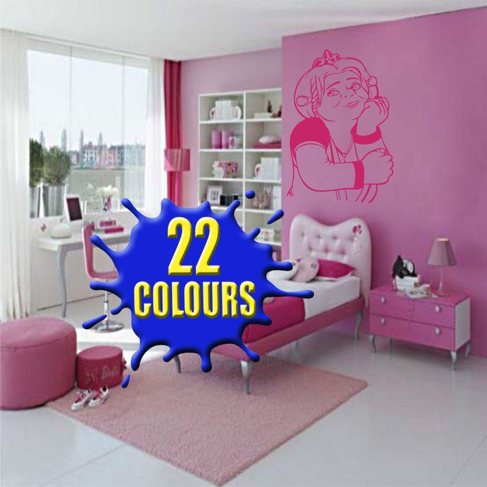 shrek princess fiona wall art decal vinyl sticker stickers on wall stickers stiker kamar tidur remaja id=28445