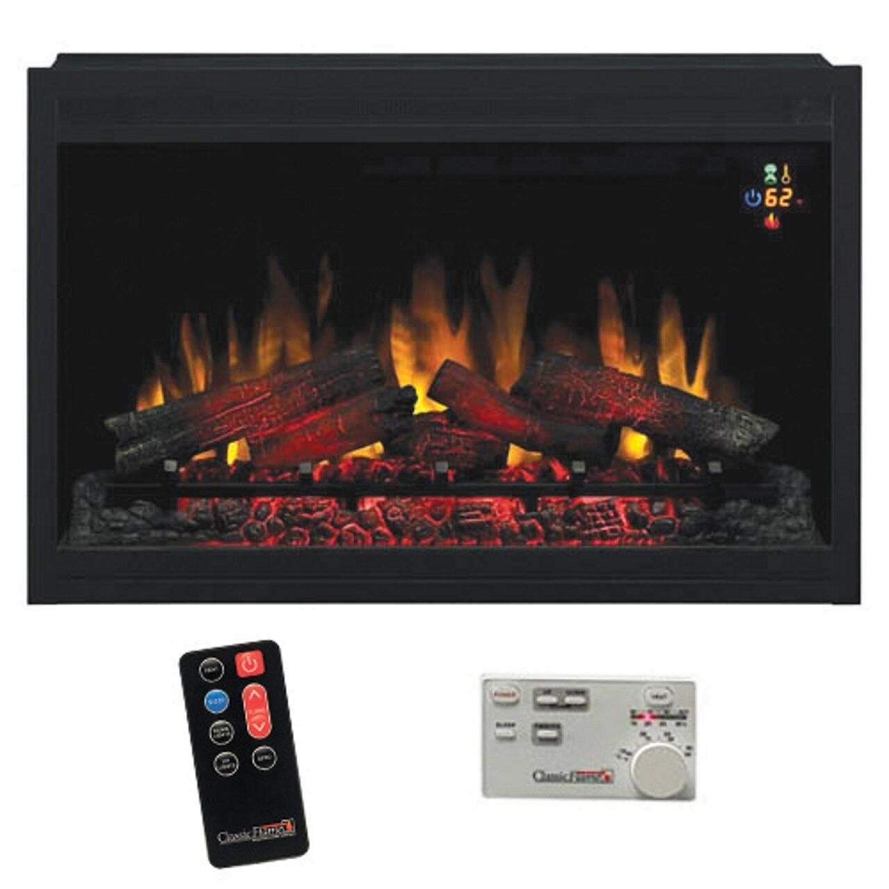 Classic Flame 36eb220 Grt 36 220v Builders Box Traditional Electric