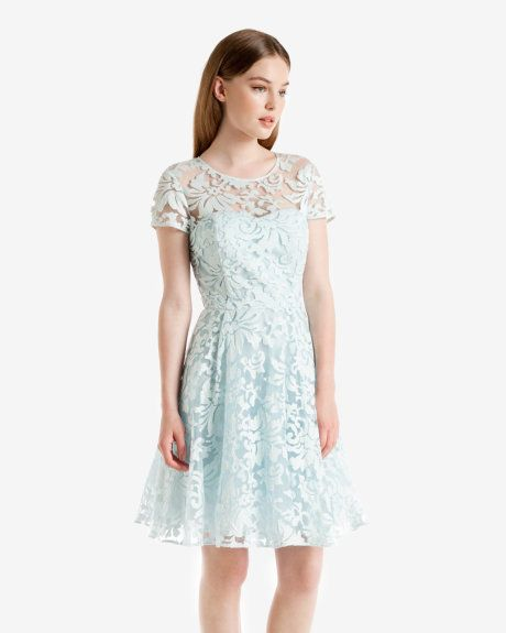 Floral lace dress - Light Blue | Dresses | Ted Baker UK | Envies ...
